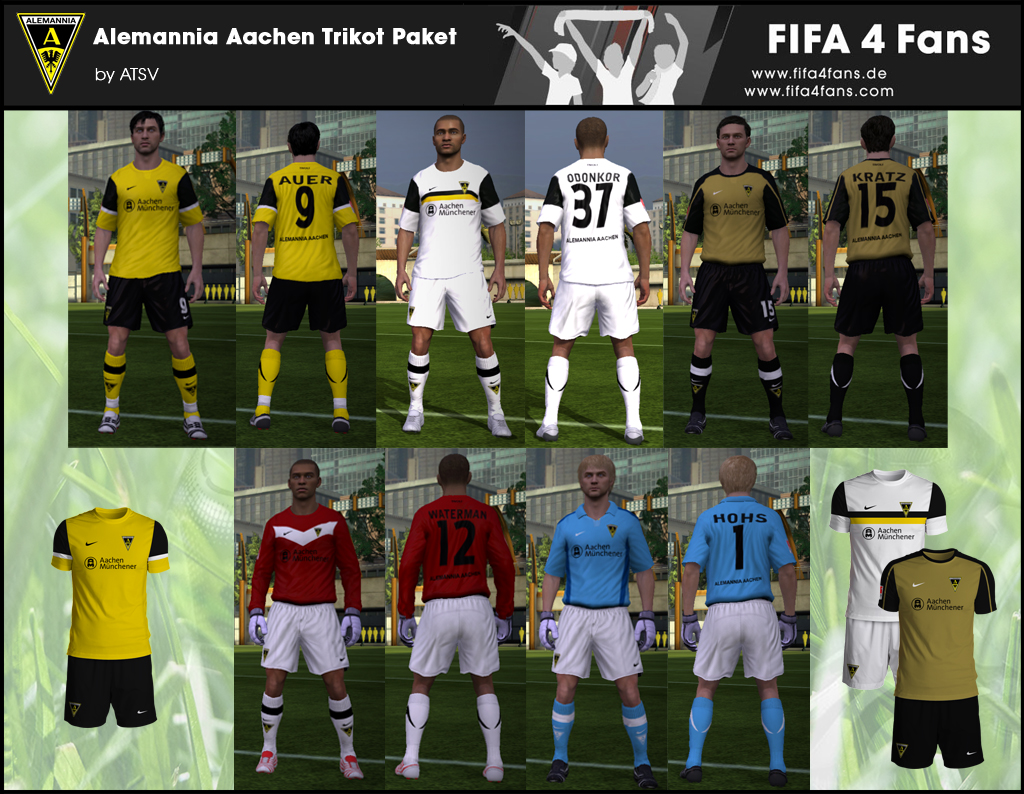 Alemannia Aachen Kit Pack 2011/12